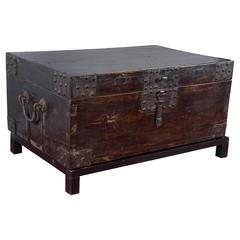 19th Century Chinese Lacquered Chest on Stand