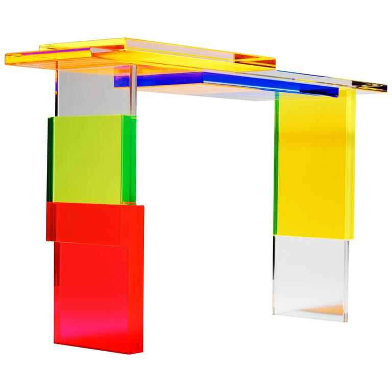 Colorful Destructured Console Table by Charly Bounan 1