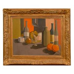 Still Life Painting, Oil on Canvas Signed Rik Gielig