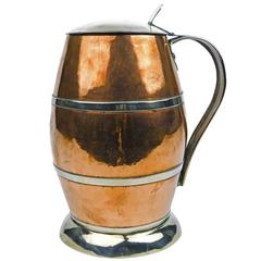 Rare Copper and Monel Tankard, circa 1895