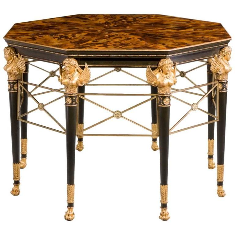 19th Century Giltwood Faux Bronze Centre Table