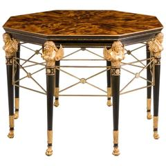 19th Century Giltwood Faux Bronze Center Table