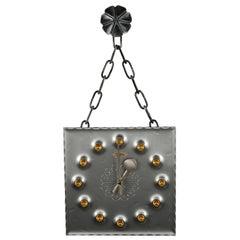 Midcentury Brutalist Mod Wall Clock