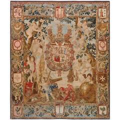 Antique Flemish Heraldic Tapestry