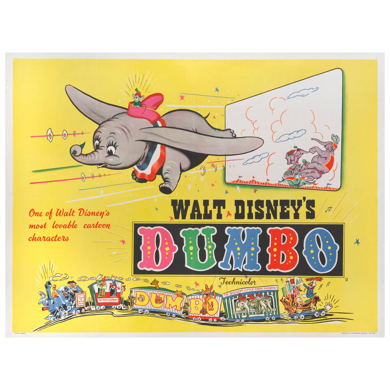 """""""Dumbo,"""" Original British Film Poster"""