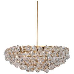 Italian Cut Diamond Crystal Chandelier, Probably Venetian