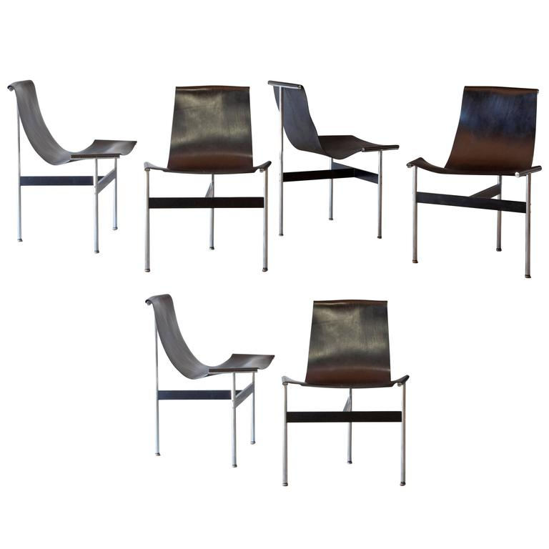 Set of Six T-Chair by Katavolos, Littell and Kelly 1