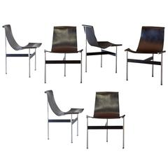 Set of Six 'T-Chair' by Katavolos, Littell and Kelly
