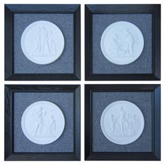Set of Four Royal Copenhagen Framed Plaques