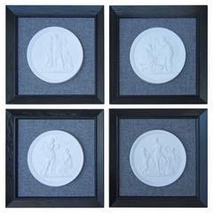 Set of Four Royal Copenhagen Framed Plaques