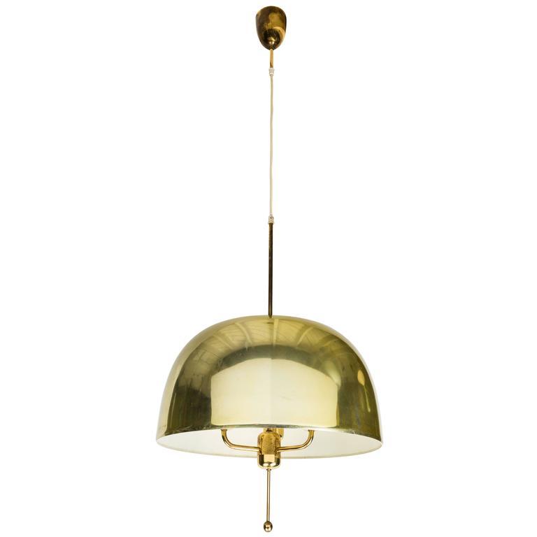 1950s hansagne jakobsson t brass chandelier for markaryd 1 - Brass Chandelier