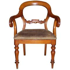 19th Century Carved Walnut Armchair