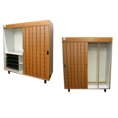 Pair of Wardrobes by Charlotte Perriand, in 1967 for Les Arc Ski Lodge, France