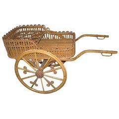 Stick Wicker Bar or Serving Cart