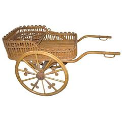 Stick Wicker Bar or Serving Cart