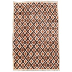 North African Tribal Berber Rug with Diamond Design