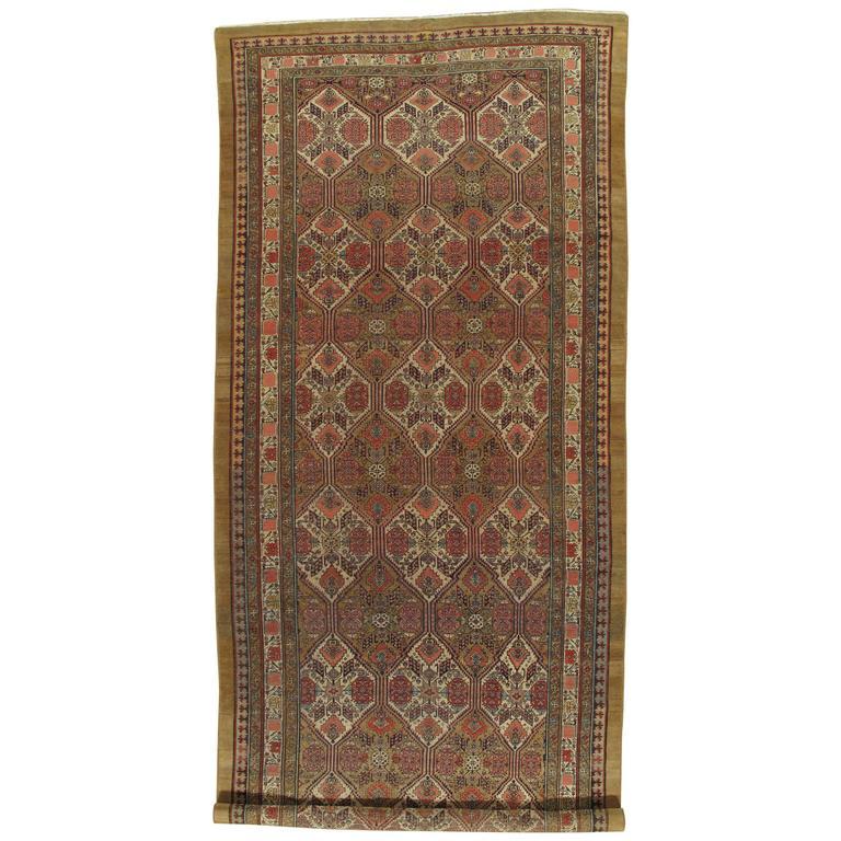 Antique Persian Serab CarpetHandmade Wool Oriental Rug
