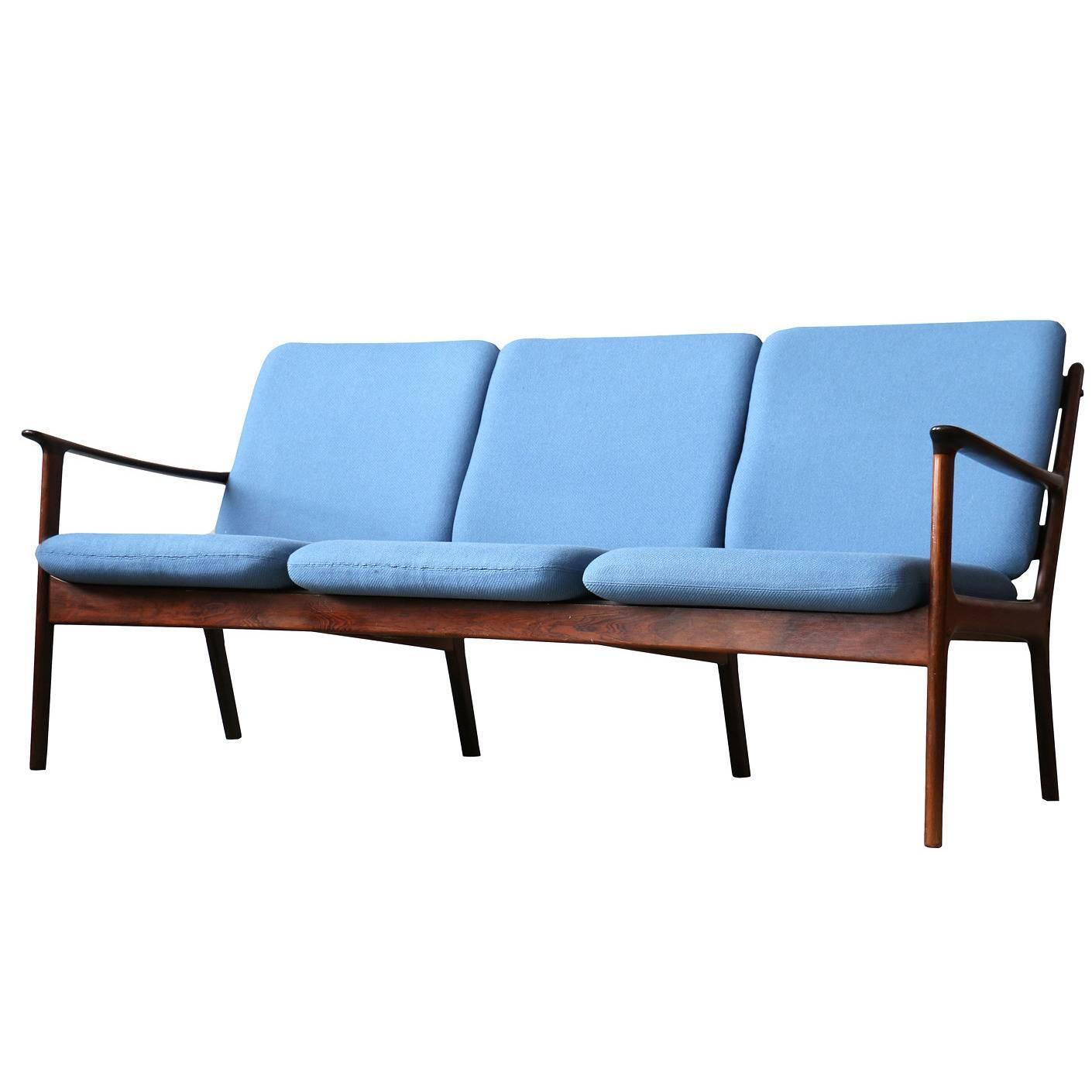 Ole Wanscher Danish Modern P Jeppesen Brazilian Rosewood Sofa