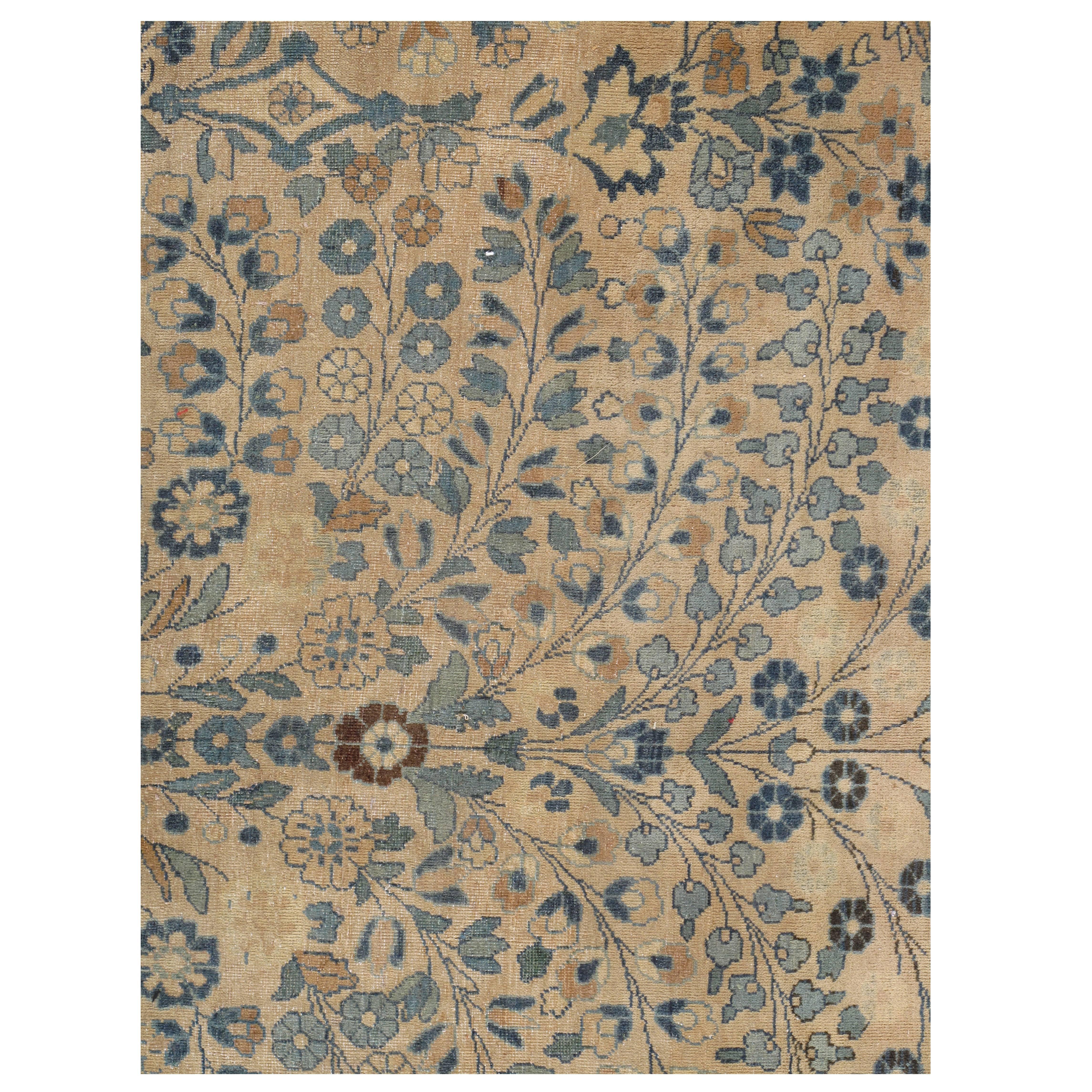 Antique Mashad Persian Carpet