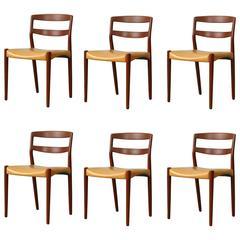 Canvas And Teak Portable Safari Chair By Kaare Klint For
