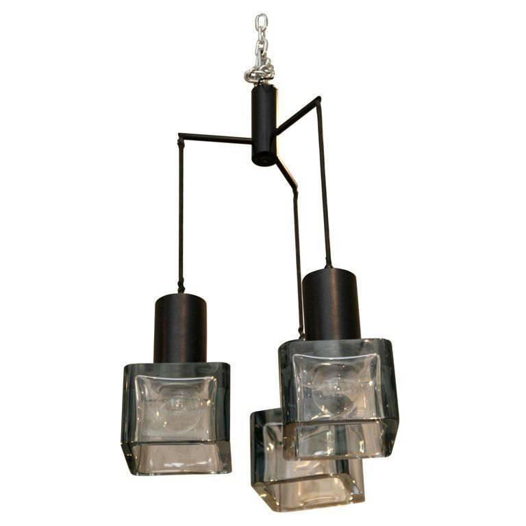 Cube Pendant Light Fixture In