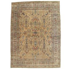 Antique Tabriz Persian Carpet