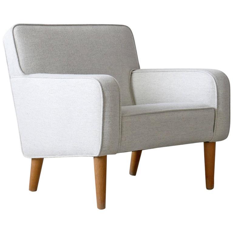 Hans Wegner Vintage Danish Modern AP 33 AP Stolen Oak Easy Chair For Sale At