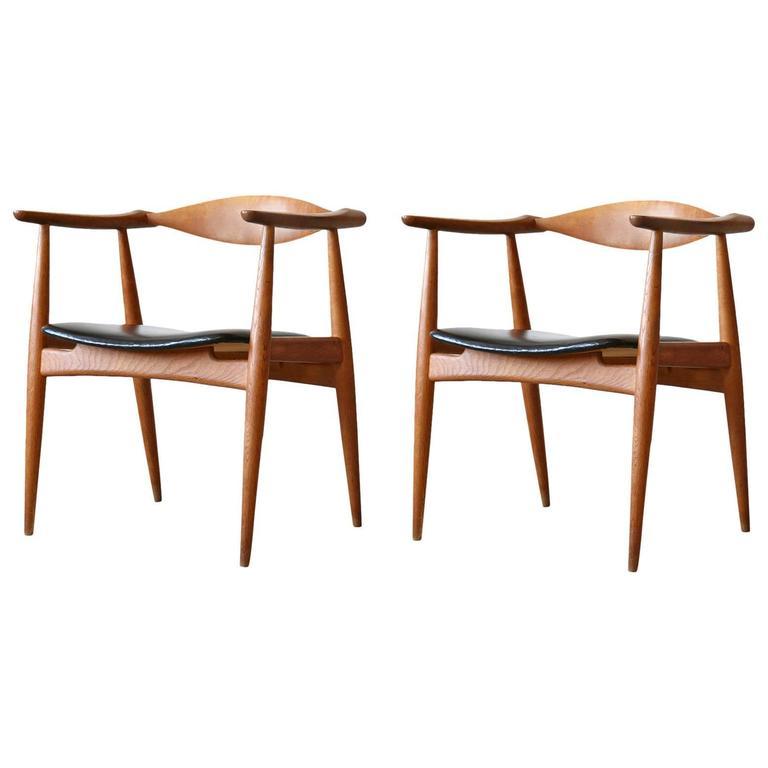 Hans Wegner CH 35 Carl Hansen And S N Oak Armchair Vintage Danish Modern For