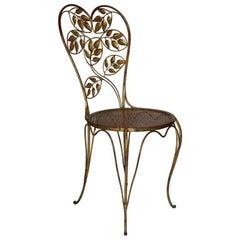 Gilt Italian Heart Back Chair