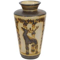 Large Glazed Ceramic Vase by Primavera