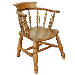 English, Elmwood Windsor Chair, Late 18th Century or Early 19th Century