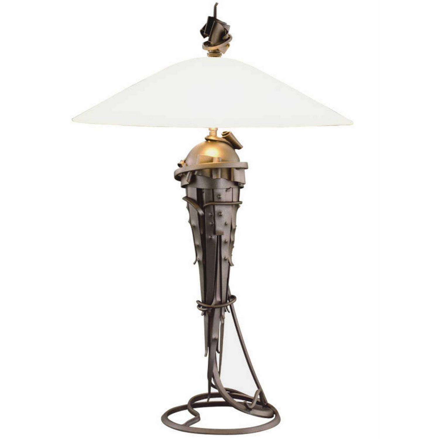 Albert paley large comet table lamp metal and glass for Jill alberts jewelry highland park