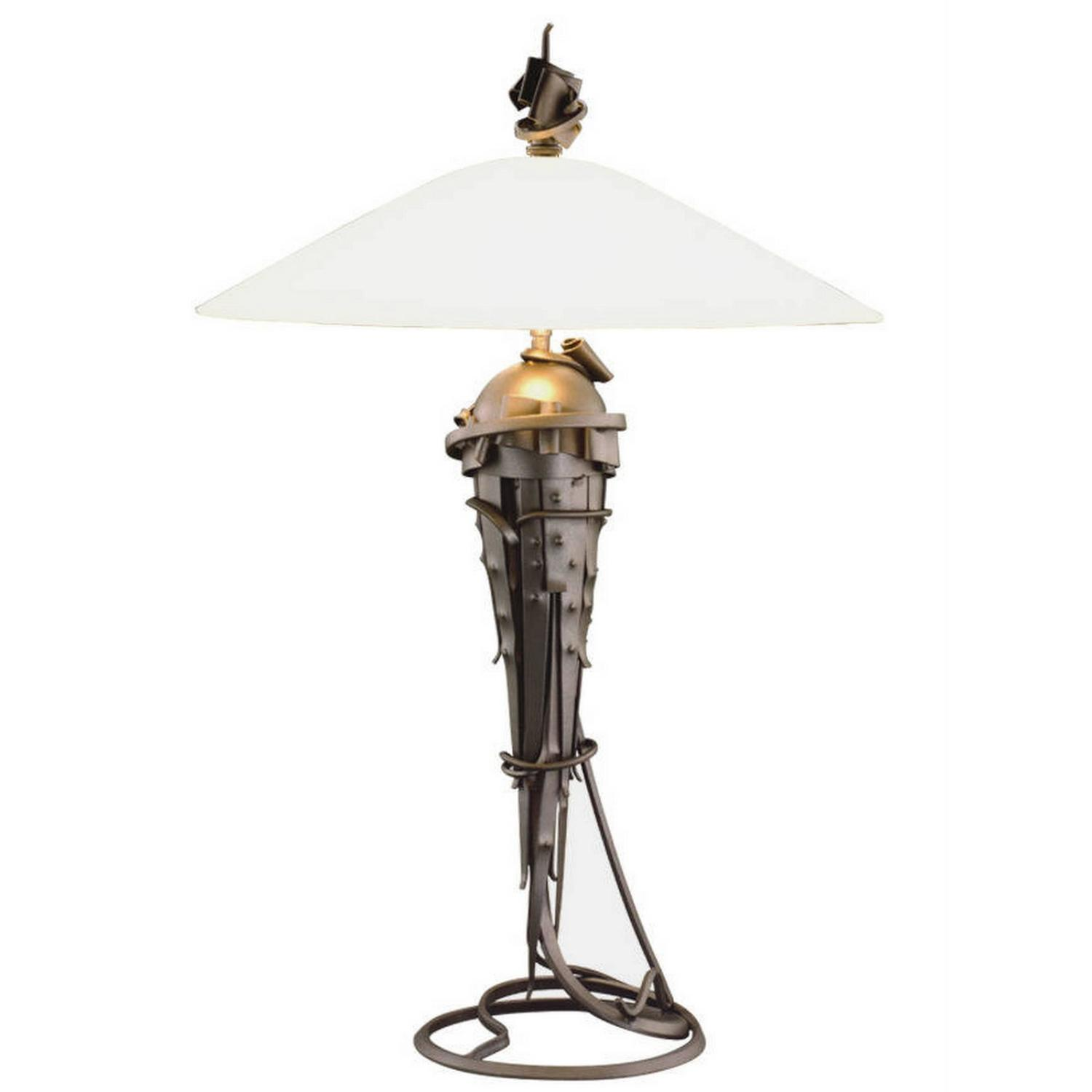 Albert paley small comet table lamp metal and glass for Jill alberts jewelry highland park