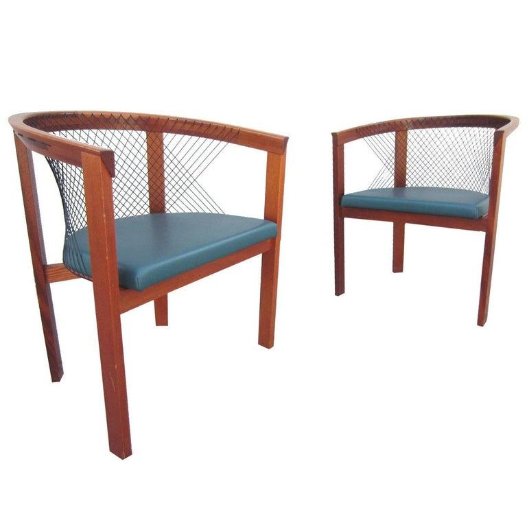 Mid-Century Danish Modern Niels Jorgen String Armchairs