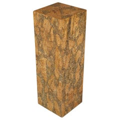 Burl Cork Pedestal Attributed to Milo Baughman
