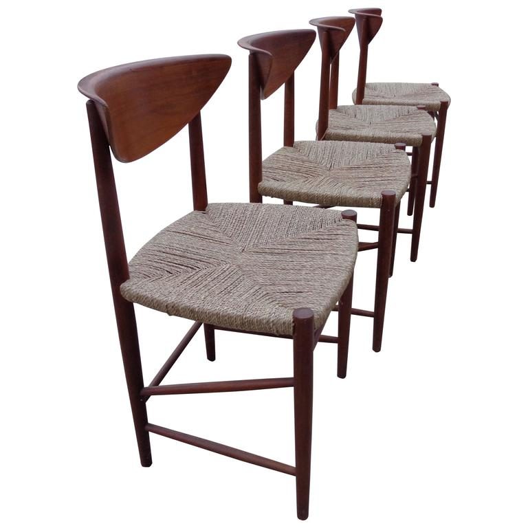 Dining Chairs by Hvidt and Mørlgaard in Teak and Seagrass