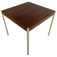 Harvey Probber Dining Table in Rosewood and Chrome