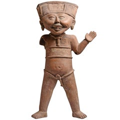Pre-Columbian Pottery Laughing Veracruz Figure, 550 AD