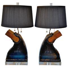 Industrial Chic Lamp Pair