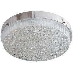 Round Polished Nickel Flush Mount Fixtures