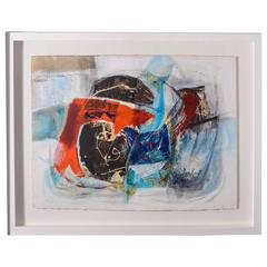 Mid-Century Abstract Watercolor by the American Artist Edith Ferullo