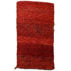 Tibetan Wangden Rug with Red Open Field