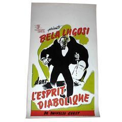 """""""Voodoo Man"""" Bela Lugosi Movie Poster Belgian Release, circa 1944"""