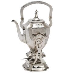 Hand Hammered Sterling Silver Tea Kettle