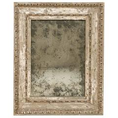 Italian Early 19th Century Rectangular Painted Wood Mirror