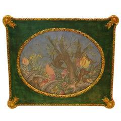 19th & 20th Century Fabric and Paper Decoupage Fantasy Jungle Scene