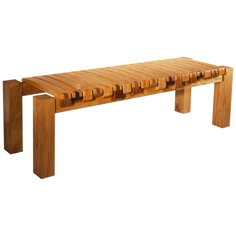 The Piano Bench In American Elm By Studio Roeper For Sale At 1stdibs