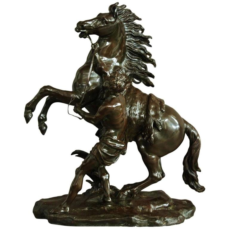 19th Century Bronze Figure 'Marley Horse'