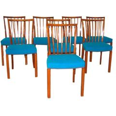 Eight Dining Chairs by Danish Cabinet Maker in Mahogany