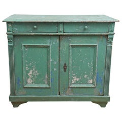 Original Green Painted Buffet